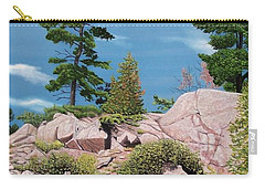 Canoe Among The Rocks Carry-all Pouch