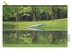 Canoe At Ponds Edge Carry-all Pouch