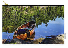Canoe At Slim Lake Carry-all Pouch