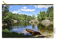 Canoe At The Portage Landing -- Slim Lake Carry-all Pouch