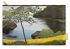 Canoe On The Bay Carry-all Pouch by Kenneth M  Kirsch