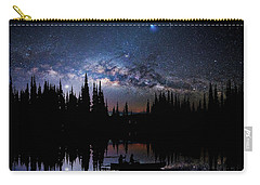 Canoeing - Milky Way - Night Scene Carry-all Pouch by Andrea Kollo