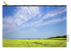 Carry-all Pouch featuring the photograph Canola Blue by Keith Armstrong