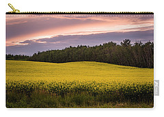 Carry-all Pouch featuring the photograph Canola Crop Sunset by Darcy Michaelchuk