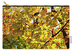 Carry-all Pouch featuring the photograph Canopy Of Autumn Leaves  by Angie Tirado
