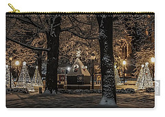 Carry-all Pouch featuring the photograph Canopy Of Christmas Lights by Kendall McKernon