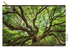 Canopy Of Color At Angel Oak Tree  Carry-all Pouch by Michael Ver Sprill