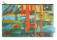 Carry-all Pouch featuring the painting Cantaloupe Island by Erin Fickert-Rowland