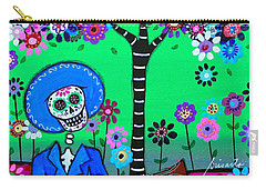 Carry-all Pouch featuring the painting Cantando A Mi Chihuahua by Pristine Cartera Turkus