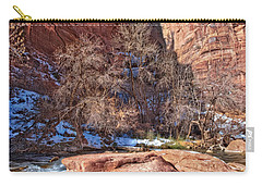 Carry-all Pouch featuring the photograph Canyon Corner by Christopher Holmes