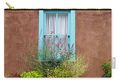 Carry-all Pouch featuring the photograph Canyon Road Blue Santa Fe by Kurt Van Wagner
