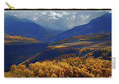 Carry-all Pouch featuring the photograph Canyon Shadows And Light From Last Dollar Road In Colorado During Autumn by Jetson Nguyen