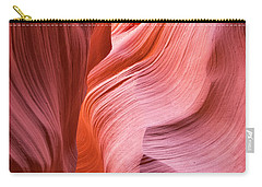 Carry-all Pouch featuring the photograph Canyon Swirls by Patricia Davidson