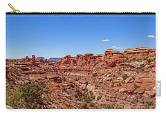 Carry-all Pouch featuring the photograph Canyonlands National Park - Big Spring Canyon Overlook by Brenda Jacobs