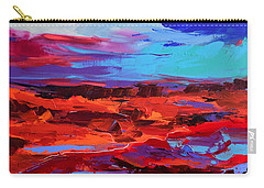 Canyon At Dusk - Art By Elise Palmigiani Carry-all Pouch by Elise Palmigiani