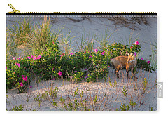 Carry-all Pouch featuring the photograph Cape Cod Beach Fox by Bill Wakeley