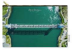 Carry-all Pouch featuring the photograph Cape Cod Canal Railroad Bridge by Michael Hughes