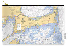 Cape Cod, Martha's Vineyard And Nantucket Nautical Chart Carry-all Pouch