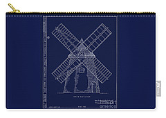 Historic Cape Cod Windmill Blueprint Carry-all Pouch by John Stephens