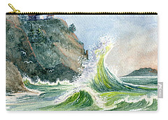 Carry-all Pouch featuring the painting Cape Disappointment Lighthouse by Marilyn Smith