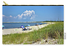 Carry-all Pouch featuring the photograph Cape Henlopen State Park - Beach Time by Brendan Reals