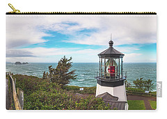 Carry-all Pouch featuring the photograph Cape Meares Bright by Darren White