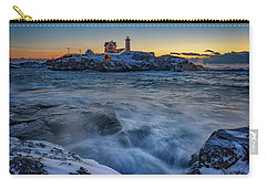 Cape Neddick In The Cold Carry-all Pouch