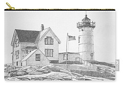 Cape Neddick Light House Drawing Carry-all Pouch