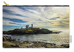 Cape Neddick Lighthouse Carry-all Pouch by Sherman Perry