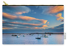 Carry-all Pouch featuring the photograph Cape Porpoise Harbor At Sunset by Rick Berk