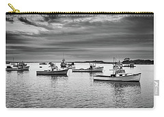 Carry-all Pouch featuring the photograph Cape Porpoise Harbor In Black And White by Rick Berk