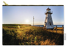 Carry-all Pouch featuring the photograph Cape Tryon Light by Chris Bordeleau