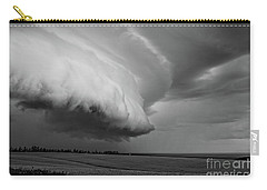 Carry-all Pouch featuring the photograph Cape Tyron Vortex Black And White by Edward Fielding