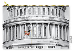 Carry-all Pouch featuring the photograph Capitol Flag by John Schneider