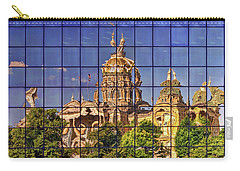 Carry-all Pouch featuring the photograph Capitol Reflection - Iowa by Nikolyn McDonald