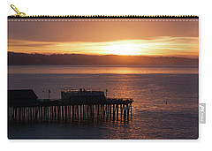 Carry-all Pouch featuring the photograph Capitola Day Begins by Lora Lee Chapman