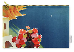 Capri Island Of The Sun - Italy Vintage Travel  1952 Carry-all Pouch