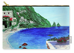 Carry-all Pouch featuring the painting  Capri by Larry Cirigliano