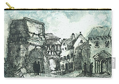 Carry-all Pouch featuring the painting Capriccio After Piranesi by Martin Stankewitz