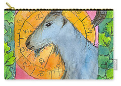 Carry-all Pouch featuring the painting Capricorn by Cathie Richardson