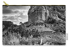 Carry-all Pouch featuring the photograph Caprock And Cactus by Stephen Stookey