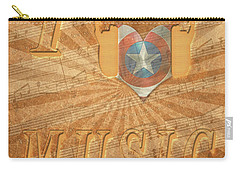 Carry-all Pouch featuring the painting Captain America Lullaby Original Digital by Georgeta Blanaru