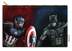 Captain America Vs Batman Carry-all Pouch by Vinny John Usuriello