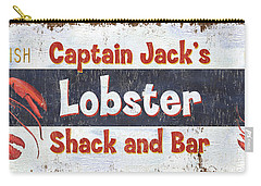 Captain Jack's Lobster Shack Carry-all Pouch by Debbie DeWitt