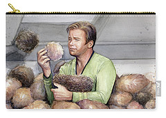 Captain Kirk And Tribbles Carry-all Pouch by Olga Shvartsur
