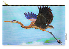 Captiva Crane In Flight Carry-all Pouch