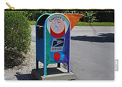 Carry-all Pouch featuring the photograph Captiva Island Mailbox- Horizontal by Michiale Schneider