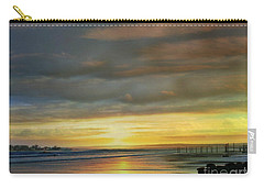 Captivating Sunset Over The Harbor Carry-all Pouch by Judy Palkimas