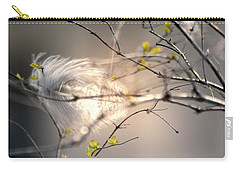 Captured Small Feather Carry-all Pouch