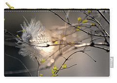 Captured Small Feather_02 Carry-all Pouch by Vlad Baciu